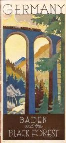 Vintage German poster - Baden and the blackforest